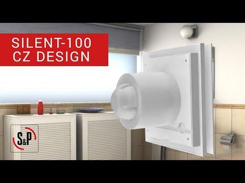 Vannas istabas ventilators S&P Silent 100 CZ Design cena un informācija | Ventilatori vannas istabai | 220.lv