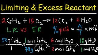 Stoichiometry - Limiting & Excess Reactant, Theoretical & Percent Yield - Chemistry