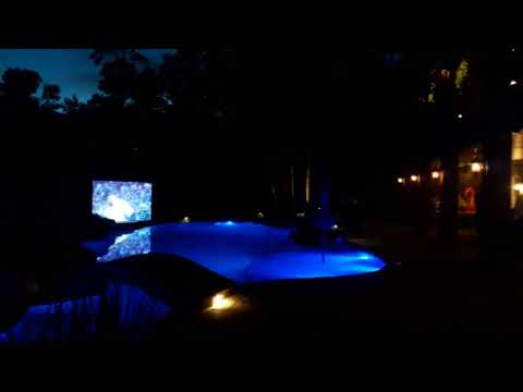 Conroe, TX Outdoor Theater: Pool With 3 Home Theaters