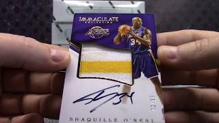 """2016/17 Panini Immaculate Basketball 5 Box Case """"Serial #s"""