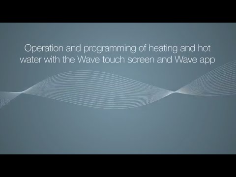 Wave touch screen operation & programming heating