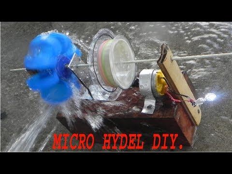 How to make a  miniature hydroelectric generator.