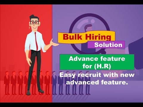 Bulk Hiring Solutions ! improve your hiring process - advance feature for (H.R) ! perfectnaukri.com
