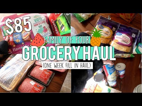 MEAL PLAN AND GROCERY HAUL // FAMILY OF 4 // WALMART GROCERY