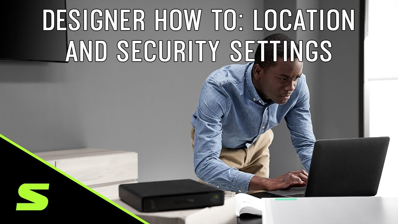 Shure Designer How To Video 4: Location And Security Settings