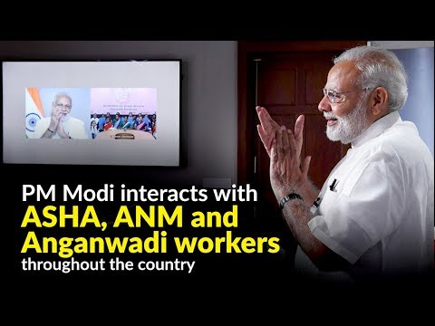 PM Modi interacts with ASHA, ANM and Anganwadi workers throughout the country