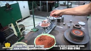 HOW IT'S MADE: Diamond Grinding Cup Wheel   Xtreme Polishing Systems