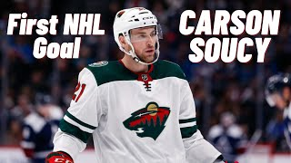 Carson Soucy #21 (Minnesota Wild) first NHL goal 16/11/2019