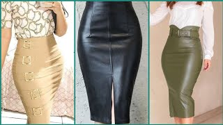 Leather Pencil Skirts Plus Size Faux Leather Pencil Skirts Styles And Ideas For Business Women