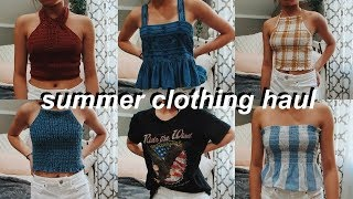 HUGE Summer Try-on Clothing Haul (american Eagle, Forever 21, Pacsun, Zara, +MORE)