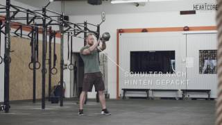 Single Arm Kettlebell Swing Tutorial   HEARTCORE Athletics