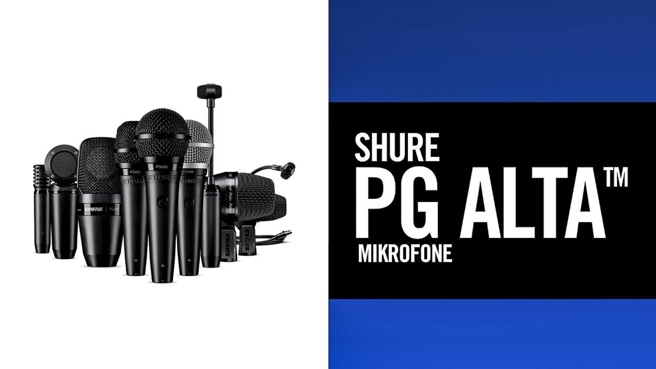 Shure PG Alta Mikrofone - Profi Sound, von Anfang an.