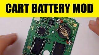 Gameboy: Cartridge Battery Mod - Game Save Battery Holder Hack - CR1220
