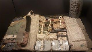 1944 USN M-592 Pilot Survival Kit Navy Ration MRE Taste Test Vintage Gadgets + Fishing Kit in a Can