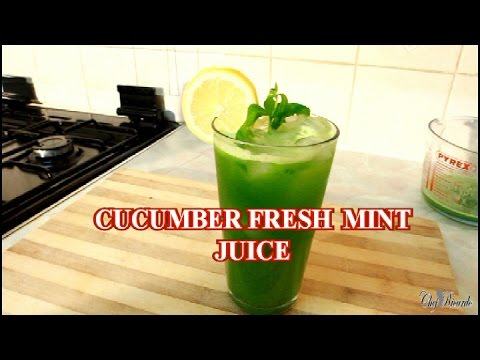 Video CUCUMBER AND FRESH MINT JUICE  /GINGER LEMON HONEY AND ICE
