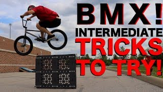 BMX TRICKS TO TRY FOR INTERMEDIATE RIDERS!