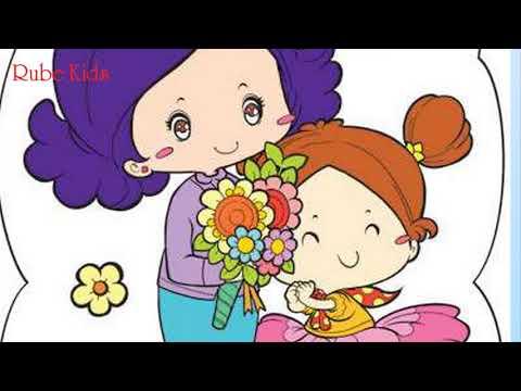 Bài thơ Dán hoa tặng mẹ.