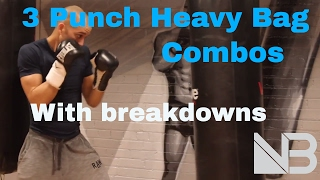 BEGINNER BOXING. HEAVY BAG COMBOS. Session 1 by NateBowerFitness