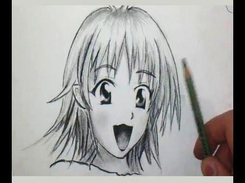 comment dessiner un visage de fille manga etape par etape comment dessiner. Black Bedroom Furniture Sets. Home Design Ideas
