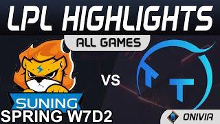 SN vs TT Highlights TXHUA GAMES LPL Lub Caij Caij Nplooj Zeeg 2021 W7D2 Suning vs ThunderTalk Gaming los ntawm Onivia