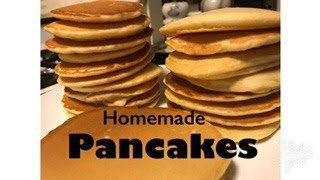 making homemade pancakes with self rising flour