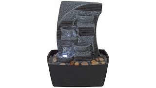 """Stoney Point LED 10"""" High Cascading Tiered Fountain"""
