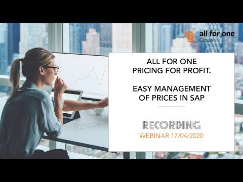 SNP Pricing for Profit. Easier management of prices in SAP
