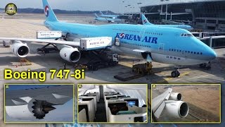 Korean Air Boeing 747-8i MEGA Business Class Seoul - Frankfurt! [AirClips full flight series]