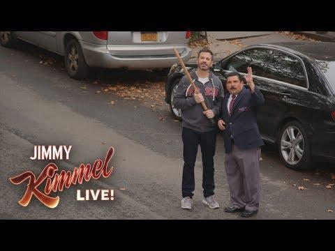 Jimmy Kimmel & Guillermo Break Matthew Broderick's Window