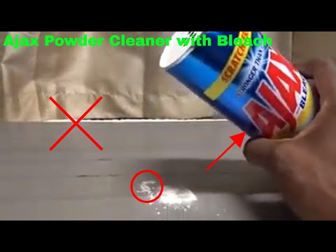 ✅  How To Use Ajax Powder Cleaner with Bleach Review