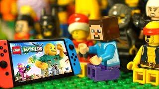 ДРУГ для НУБика в Майнкрафте против Лего Ниндзяго и LEGO Worlds - Мультики  для Детей Видео