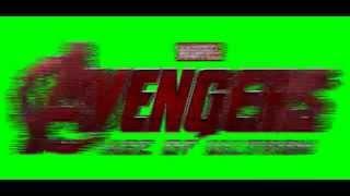 avengers age of ultron logo chroma key - green screen