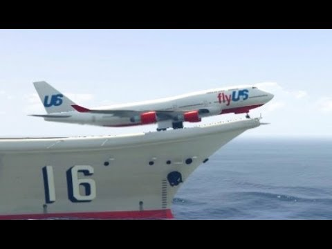 GTA 5- Exceptional Landing by Airplane(Jumbo jet) | Youtube