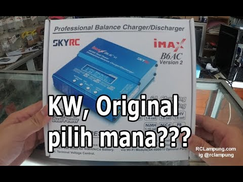 unboxing skyrc imax b6 ac v2 digital charger original - Indonesia