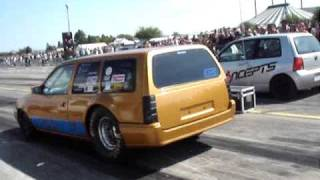 preview picture of video 'Turbo V6 Opel/Daewoo Dragster Speednation 2009 Großenhain'