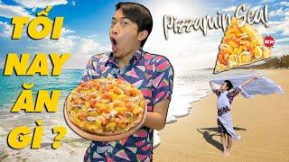 CrisDevilGamer LẦN ĐẦU ĂN PIZZAMIN SEA của DOMINO'S PIZZA | Tối nay ăn gì?