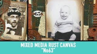 Mixed Media Rust Canvas - No63
