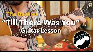 "The Beatles ""Till There Was You"" Rhythm Guitar Lesson  Pt.1-2"