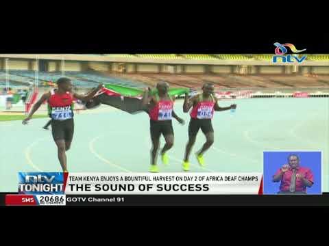 Team Kenya enjoys a bountiful harvest on day 2 of Africa deaf champion