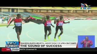 Team Kenya enjoys a bountiful harvest on day 2 of Africa deaf champion
