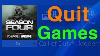 PS4 How to Quit Games NEW!