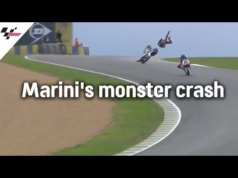 衝撃のハイライト映像。マリンがレッドフラグとなるほどのハイサイド。MotoGP フランスGP