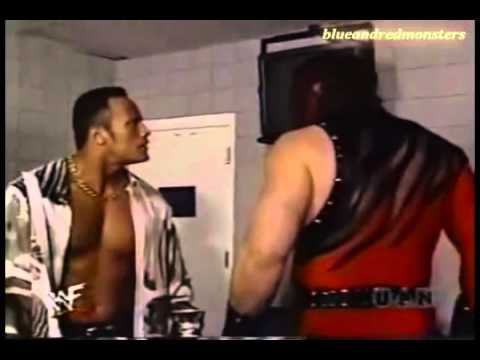 Kane and The Rock Backstage Fight