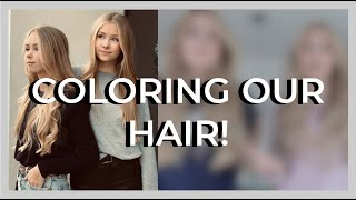 COLORING OUR HAIR! - izaandelle