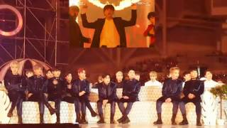 161119 EXO(엑소) Reaction To BTS(방탄소년단) - Blood Sweat & Tears + FIRE  @MMA