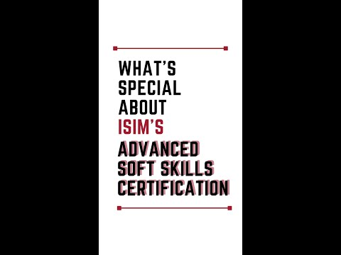 What Makes ISIM's Advanced Soft Skills Course Special? #shorts ...
