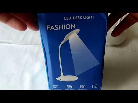 Распаковка и обзор настольного светодидного светильника
