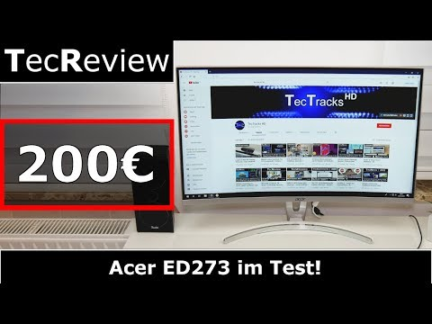 [REVIEW] | Acer ED273 - 27 Zoll Curved-Monitor im Test! | TecReview | 4K