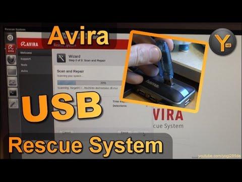 Sicherer Viren-Scan mit dem bootfähigen Avira Rescue USB-Stick