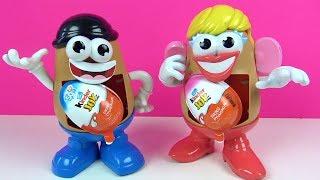 Bay ve Bayan Patates Kafalar Kafalarının içinden Hangi Kinder Joy Sürpriz Yumurta Oyuncakları çıktı
